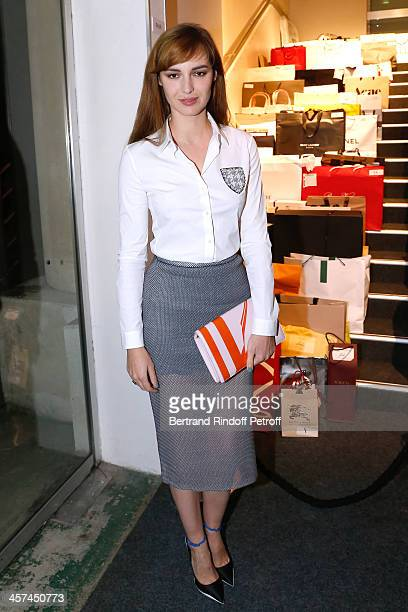 Actress Louise Bourgoin attends the Annual Charity Dinner hosted by the AEM Association Children of the World for Rwanda on December 17 2013 Held at...