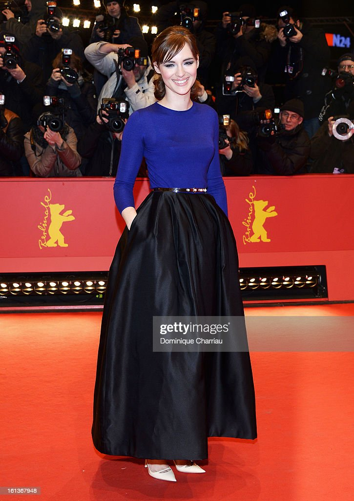 Actress Louise Bourgoin attends 'The Nun' Premiere during the 63rd Berlinale International Film Festival at Berlinale Palast on February 10, 2013 in Berlin, Germany.