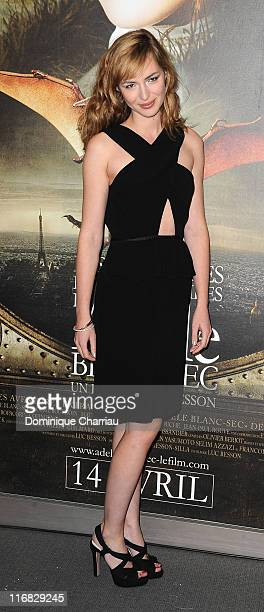Actress Louise Bourgoin attends the premiere of the Luc Besson's film 'Les Aventures Extraordinaires d'Adele Blanc-Sec' at Cinema UGC Normandie on...