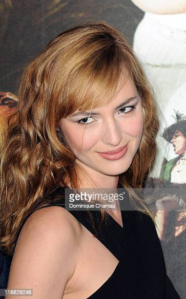 Actress Louise Bourgoin attends the premiere of the Luc Besson's film 'Les Aventures Extraordinaires d'Adele BlancSec' at Cinema UGC Normandie on...