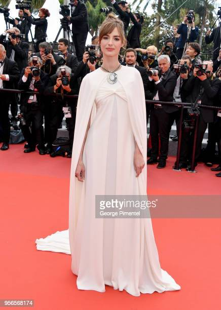 Actress Louise Bourgoin attends the screening of Yomeddine during the 71st annual Cannes Film Festival at Palais des Festivals on May 9 2018 in...