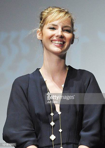 Actress Louise Bourgoin attends the The Extraordinary Adventures of Adele BlancSec Stage Greeting at United Cinemas Toyosu on June 8 2010 in Tokyo...