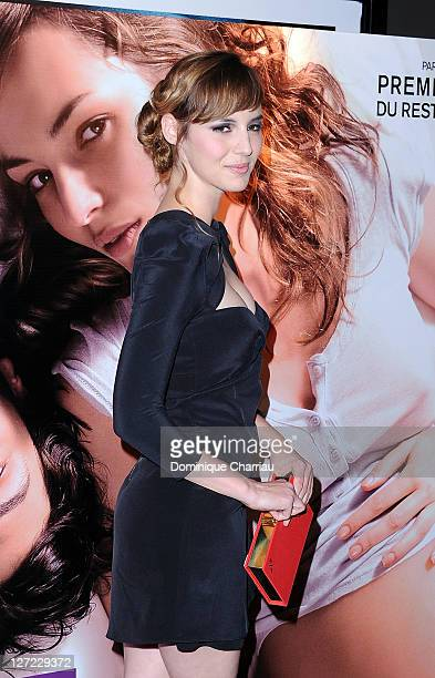 """Actress Louise Bourgoin attends """"Un Heureux Evenement"""" premiere at UGC Cine Cite Bercy on September 26, 2011 in Paris, France."""