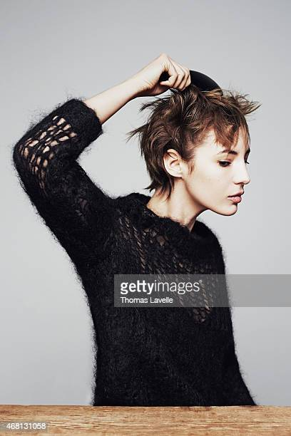 Actress Louise Bourgoin is photographed for Self Assignment on February 19 2015 in Paris France