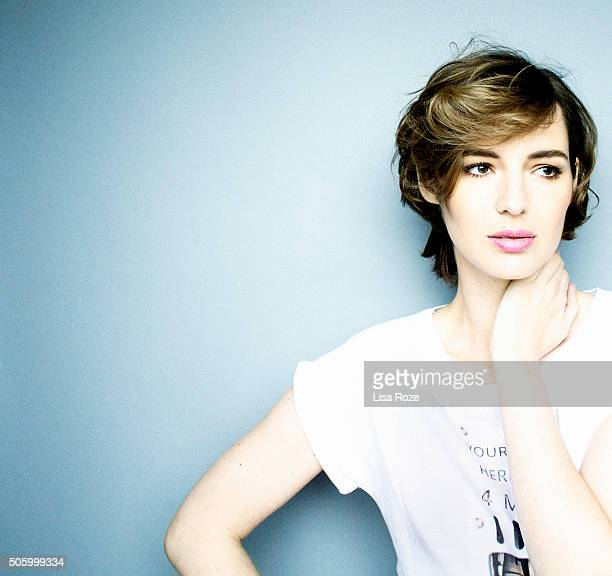 Actress Louise Bourgoin is photographed for Self Assignment on December 8 2015 in Paris France