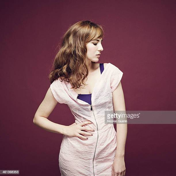 Actress Louise Bourgoin is photographed for Self Assignment on December 9 2013 in Paris France