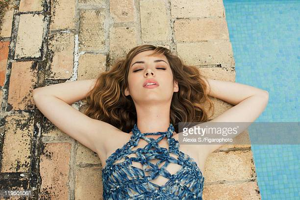 Actress Louise Bourgoin poses at a fashion shoot for Madame Figaro on May 31 2011 in Gemenos France Published image Figaro ID 100850005 Dress by Dior...