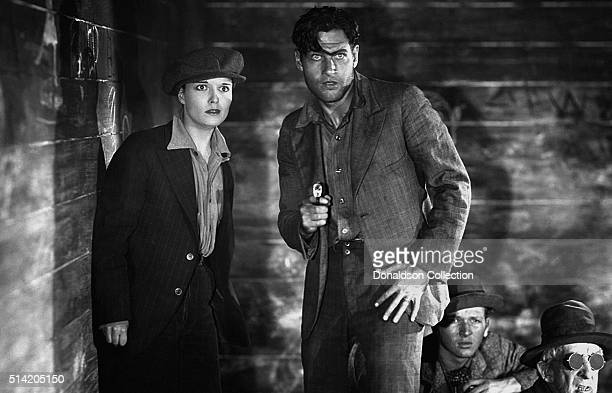 Actress Louise Brooks actor Rich Arlen in a scene from the 1928 movie Beggars of Life
