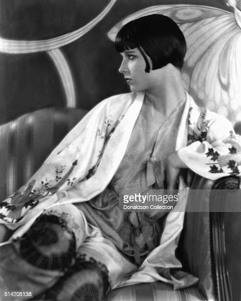 Actress Louise Brooks poses for a portrait session in circa1927