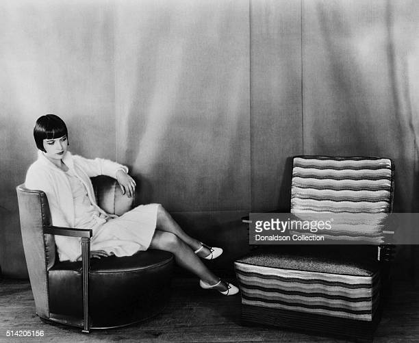 Actress Louise Brooks poses for a portrait session in circa1928