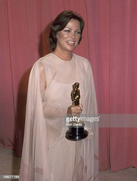 Actress Louise Fletcher attends the 48th Annual Academy Awards on March 29 1976 at Dorothy Chandler Pavilion in Los Angeles California