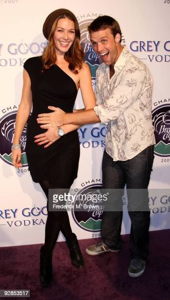 Actress Louise Griffiths and actor Jesse Spencer attend the Breeders' Cup Winners Circle event at the ESPN Zone and L. A. Live on November 5, 2009 in...