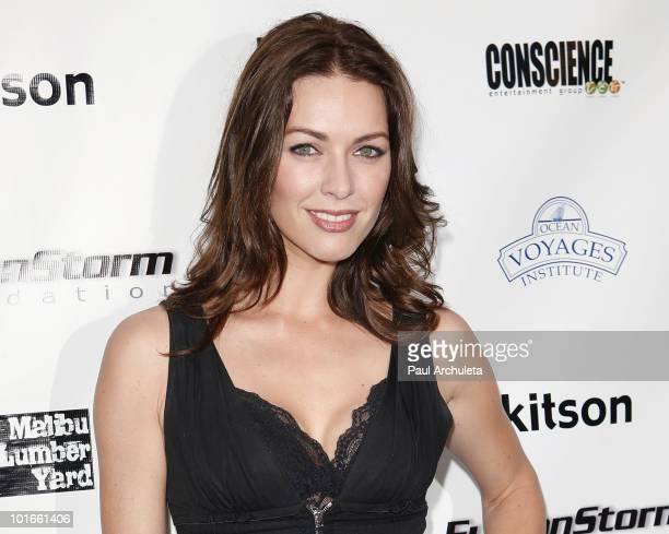Actress Louise Griffiths arrives at the 1st annual My Ocean Planet fundraiser benefitting project Kaisei at The Malibu Lumber Yard on June 5 2010 in...