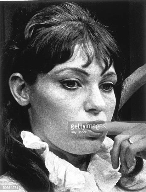 Actress Louise Lasser in a scene from the stage play Is the Real You Really You