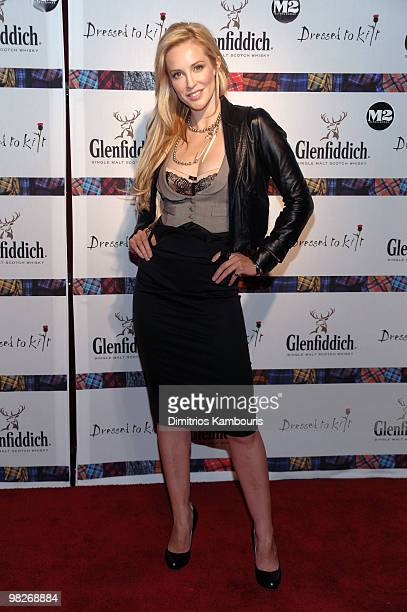 Actress Louise Linton attends the 8th annual 'Dressed To Kilt' Charity Fashion Show at M2 Ultra Lounge on April 5 2010 in New York City