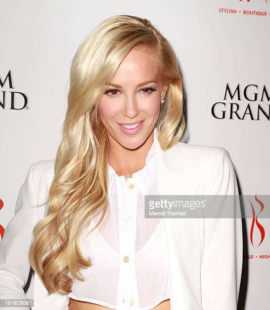 Actress Louise Linton celebrates the DVD release of the movie She Wants Me at Tabu Ultra Lounge at MGM Grand on September 8 2012 in Las Vegas Nevada
