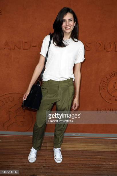 Actress Louise Monot attends the 2018 French Open Day Nine at Roland Garros on June 4 2018 in Paris France
