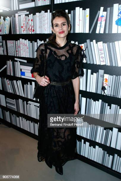 Actress Louise Monot attends the Manifesto Sonia Rykiel 5Oth Birthday Party at the Flagship Store Boulevard Saint Germain des Pres on January 16 2018...