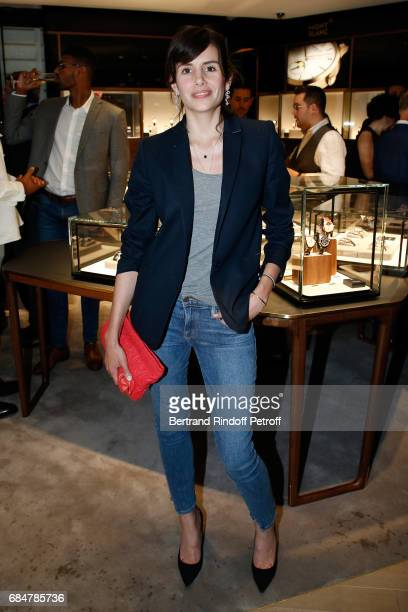 Actress Louise Monot attends the Montblanc ChampsElysees Flagship Reopening on May 18 2017 in Paris France