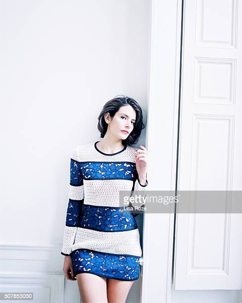 Actress Louise Monot is photographed for Self Assignment on December 28, 2015 in Paris, France.