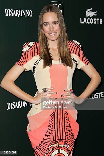 Actress Louise Roe arrives at the 13th Annual Costume Designers Guild Awards with presenting sponsor Lacoste held at The Beverly Hilton hotel on...
