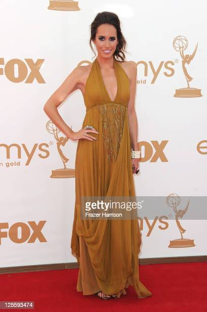 Actress Louise Roe arrives at the 63rd Annual Primetime Emmy Awards held at Nokia Theatre LA LIVE on September 18 2011 in Los Angeles California