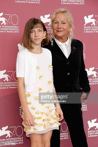 "Actress Lou-Lélia Demerliac and designer/designer Agnès Troublé attend ""Je M' Appelle Hmmm..."" Photocall during the 70th Venice International Film..."
