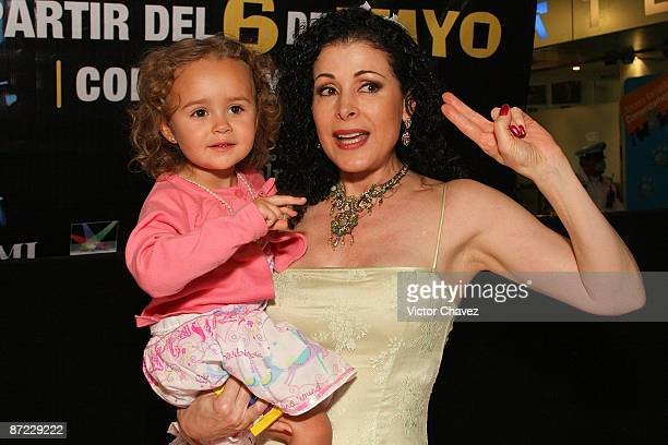 Actress Lourdes Munguia and her niece Renata attends the Slava's Snowshow premier at the Telmex theater on May 13 2009 in Mexico City Mexico
