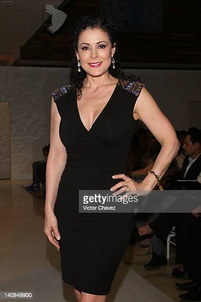 Actress Lourdes Munguia attends the Daniel Espinosa collection jewelry 2012 fashion show at Sport City on March 8 2012 in Mexico City Mexico