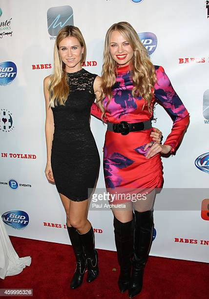 Actress Luba Vitti and Playboy Playmate Irina Voronina attend the 7th Annual Babes In Toyland charity toy drive benefiting Promises 2 Kids at Station...