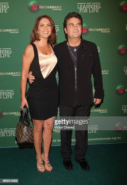 Actress Lucero and her husband singer Manuel Mijares attend the Buchanan's Forever 2010 Learning For Life>> at Colegio de San Ildefonso on May 8 2010...