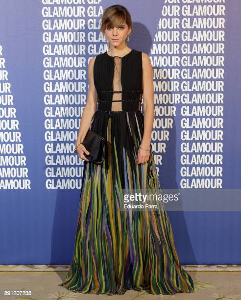 Actress Lucia Diez attends the Glamour Magazine Awards photocall at Ritz hotel on December 12 2017 in Madrid Spain