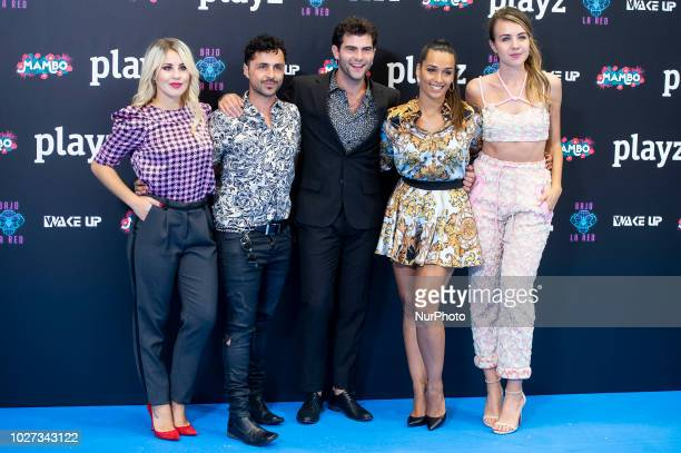 Actress Lucia Gil, actor Diego Dominguez, actress Chanel Terrero and actress Andrea Gasch attends presentation of new schedule of 'Playz' during...