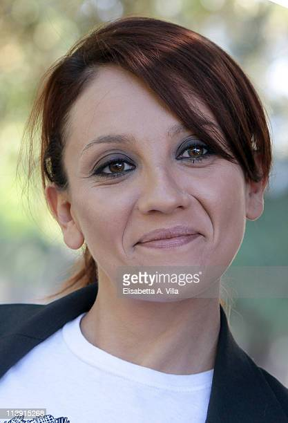 """Actress Lucia Ocone attends """"I Liceali 3"""" TV series photocall at Villa Borghese on May 10, 2011 in Rome, Italy."""