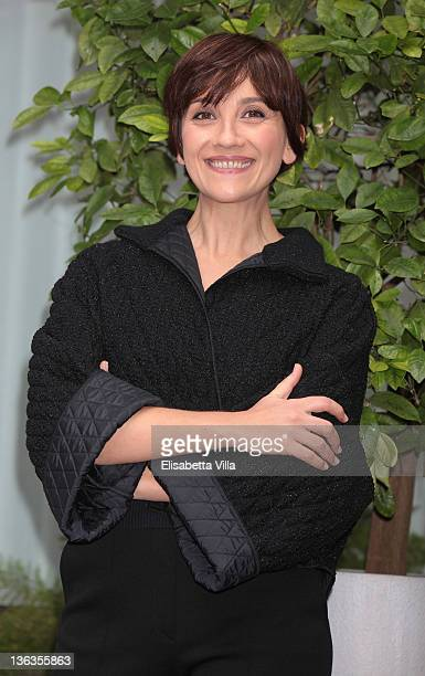 Actress Lucia Ocone attends 'Immaturi Il Viaggio' photocall at Visconti Hotel on January 3 2012 in Rome Italy