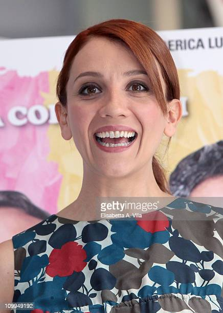Actress Lucia Ocone attends Nessuno Mi Puo Giudicare photocall at the Adriano Cinema on March 11 2011 in Rome Italy