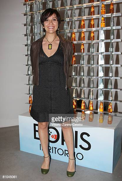 Actress Lucia Ocone attends the 'Boris 2' Party Launch Organized by Fox TV on May 09 2008 in Milan Italy