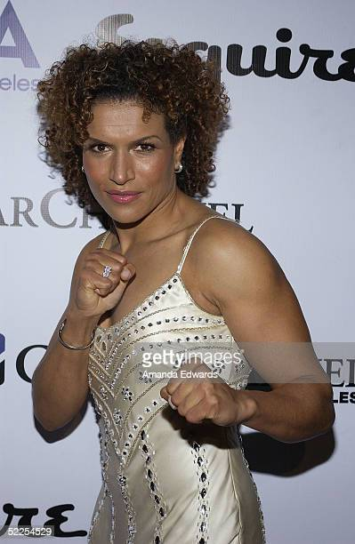 Actress Lucia Rijiker arrives at The Abbey/Esquire Magazine 'The Envelope Please' Oscar Viewing Party on February 27 2005 at The Abbey in West...
