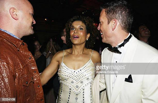 Actress Lucia Rijker cheers as 'Million Dollar Baby' is named Best Picture at The Abbey / Esquire Magazine 'The Envelope Please' Oscar Viewing Party...