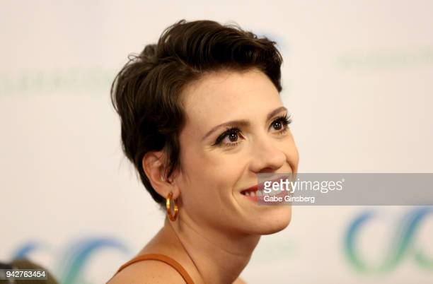Actress Luciana Bollina attends the ClexaCon 2018 convention at the Tropicana Las Vegas on April 6 2018 in Las Vegas Nevada