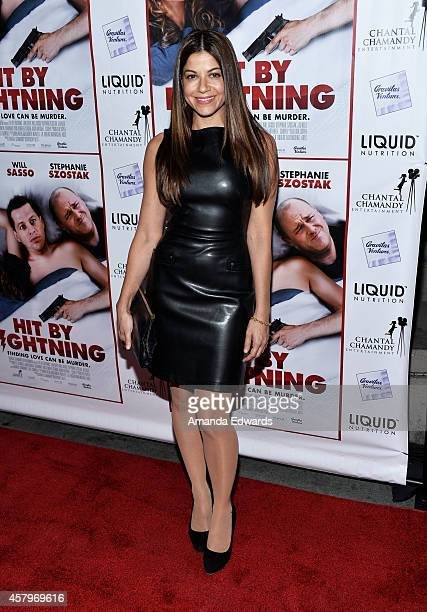 Actress Luciana Carro arrives at the Los Angeles premiere of 'Hit By Lightning' at the ArcLight Hollywood on October 27 2014 in Hollywood California