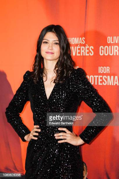 Actress Lucie Boujenah during the 'Edmond' Paris Premiere photocall at Cinema Pathe Beaugrenelle on December 17 2018 in Paris France