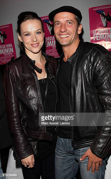 "Actress Lucie Jeanne and Maxime attend the ""Le Siecle Sera Feminin"" aftershow at Six Seven on September 22, 2009 in Paris, France."