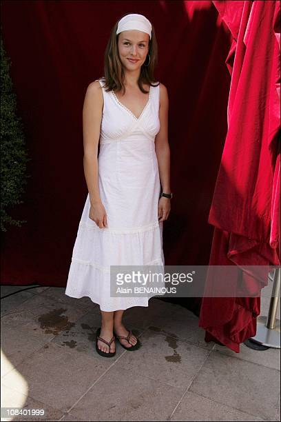 Actress Lucie Jeanne in Monaco on July 01, 2005.