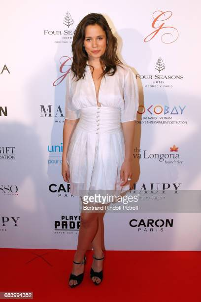 Actress Lucie Lucas attends the Global Gift the Eva Foundation Gala Photocall at Hotel George V on May 16 2017 in Paris France