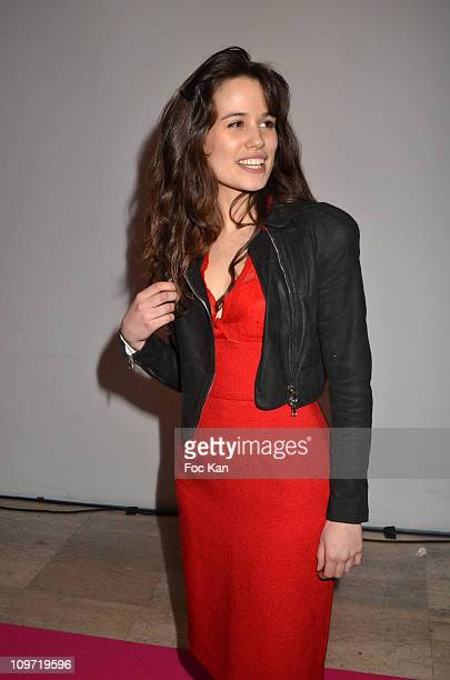 Actress Lucie Lucas attends the Trophees Du Film Francais 2011 At Palais de Tokyo on February 3 2011 in Paris France