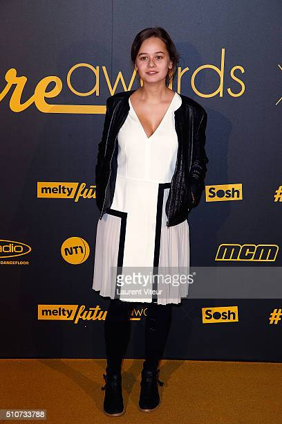 Actress Lucie Lucie Fagedet attends The Melty Future Awards 2016 Ceremony at Le Grand Rex on February 16 2016 in Paris France