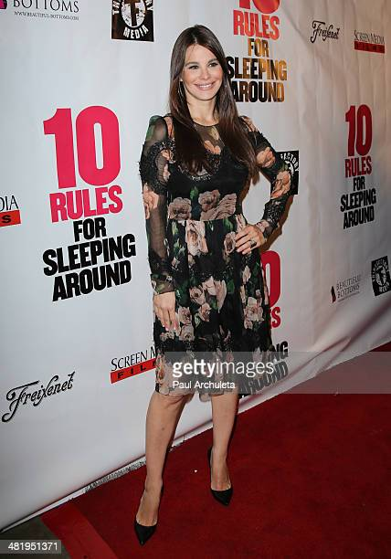 Actress Lucila Sola attends the premiere for 10 Rules For Sleeping Around at the Egyptian Theatre on April 1 2014 in Hollywood California