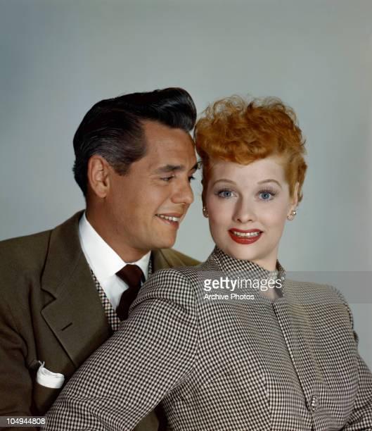 Actress Lucille Ball and her husband actor Desi Arnaz circa 1950's