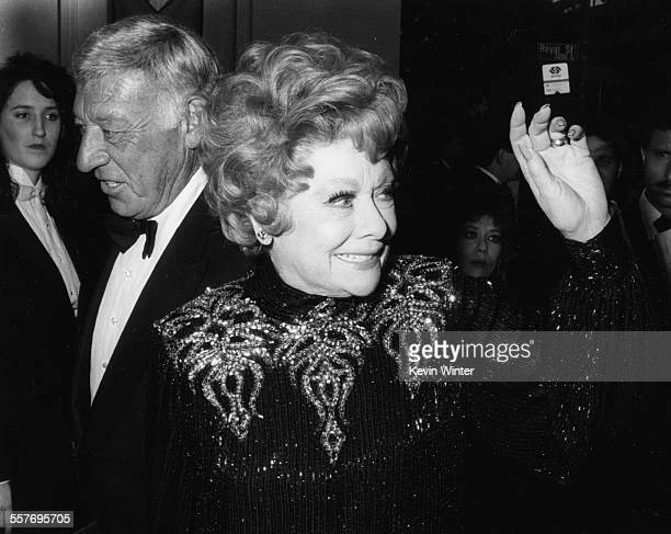Actress Lucille Ball and her husband Gary Morton attending the 61st Annual Academy Awards, at the Shrine Auditorium in Los Angeles, March 29th 1989.